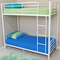Cheap price double decker metal bunk bed are used in school dormitory with mattress/ladder