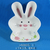 Cute rabbit shaped ceramic easter plates in high quality