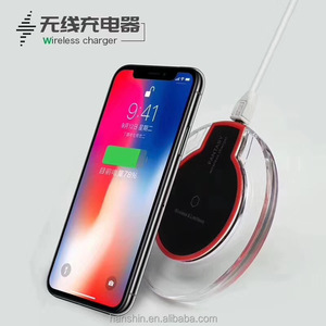 High quality Ugreen QI Crystal Wireless Charging Pad for iPhone8 ,for iphoneX,for Samsung and Android Phone