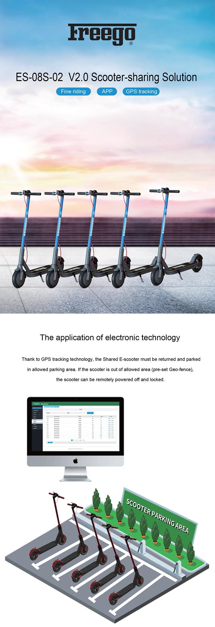 Inteligente compartilhados e scooter para aluguel, compartilhamento público bicicleta elétrica com sistema de rastreamento gps