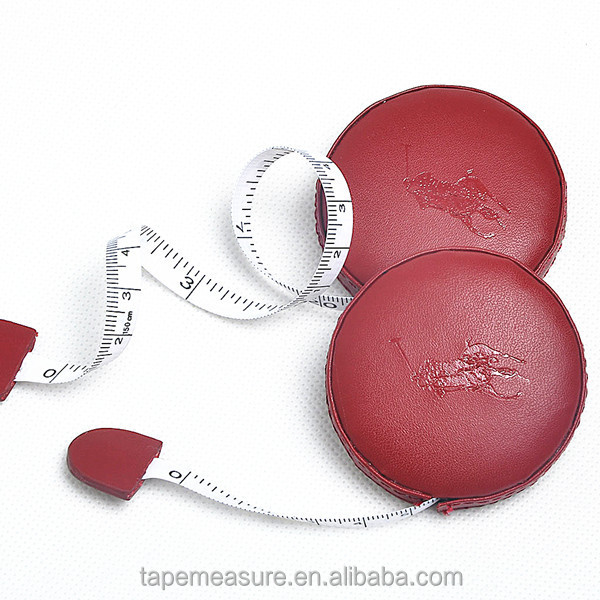 1m retractable leather tailoring measure tape promotional gifts in china embossed YOUR Logo or Name