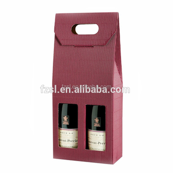 custom paper wine carrier
