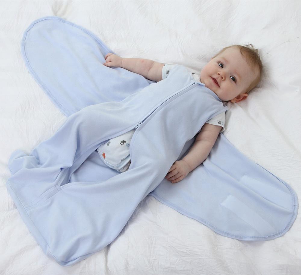 miracle baby 100% jersey cotton sleeping bag sleeping sack Adjustable Swaddle Wrap Blanket Infant Newborn Baby Sleeping sack, Picture shown