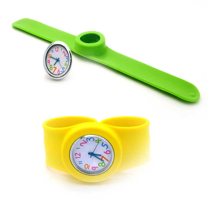 factory custom changeable kids silicone slap watch with your own logo