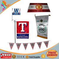 Free Design Decorative Satin Fabric Garden Flag,Custom Print Club Sports Flags