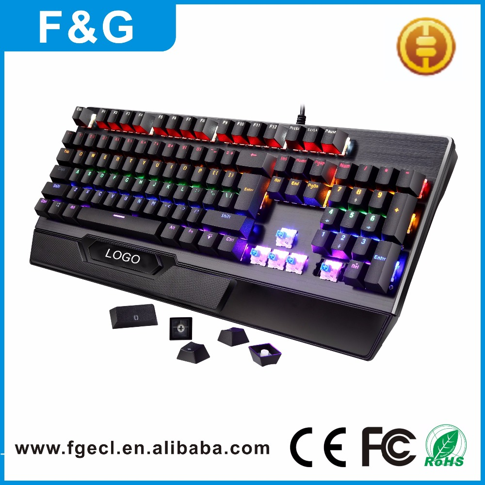 2017 factory price new design mechanical gaming keyboard for gaming