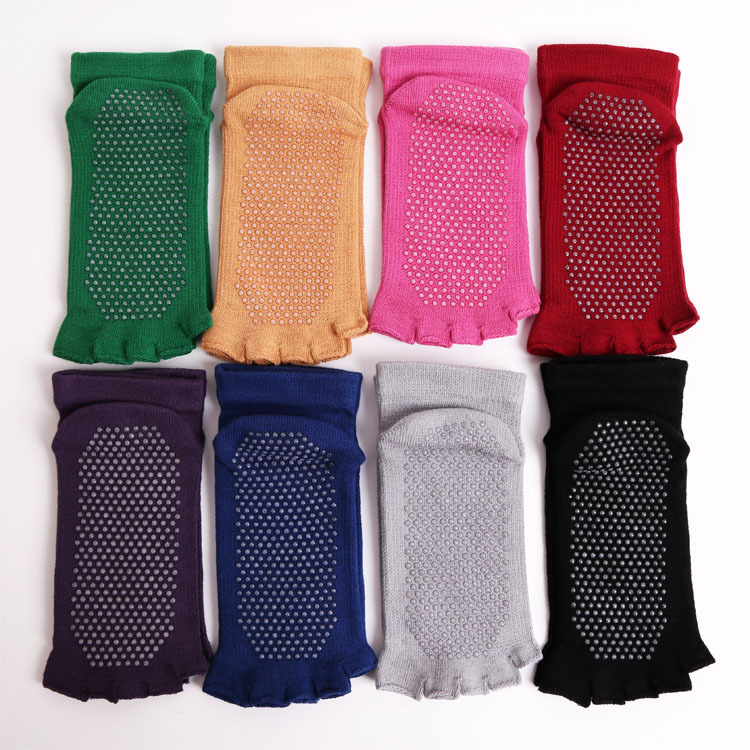 Wholesale custom logo Yoga toe Socks 5 Five Finger anti slip Gym Dance Sport Exercise Fitness Socks for women