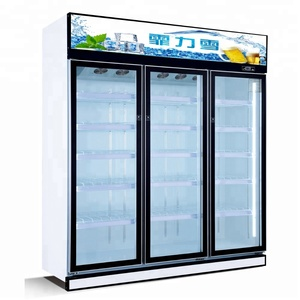 Best selling refrigerated cabinet/3 doors showcases refrigerator used