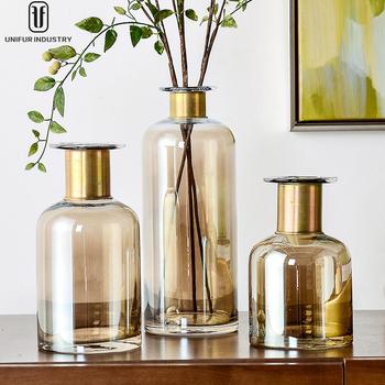 Unifur Wholesale Glass Gold Vase Cylinder Buy Vasegold Vases