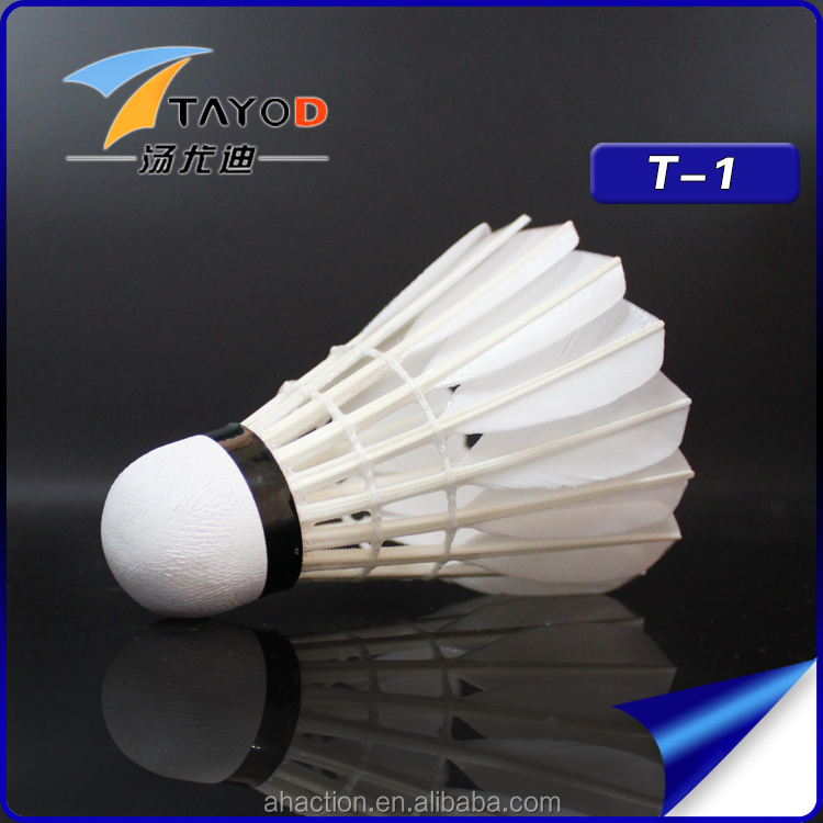 badminton shuttlecock of senior goose feather shuttlecock for OEM same as yone T-1