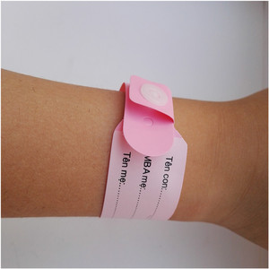 Super Soft Plastic Medical PVC Hospital ID Wristband for New Born Baby