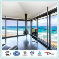 Heat reflection sound proof clear review floor to ceiling window insulated glass