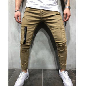 Adults Age Group Sports Slim Fit Zipper Jogger Pants Custom Men Jogger Pants