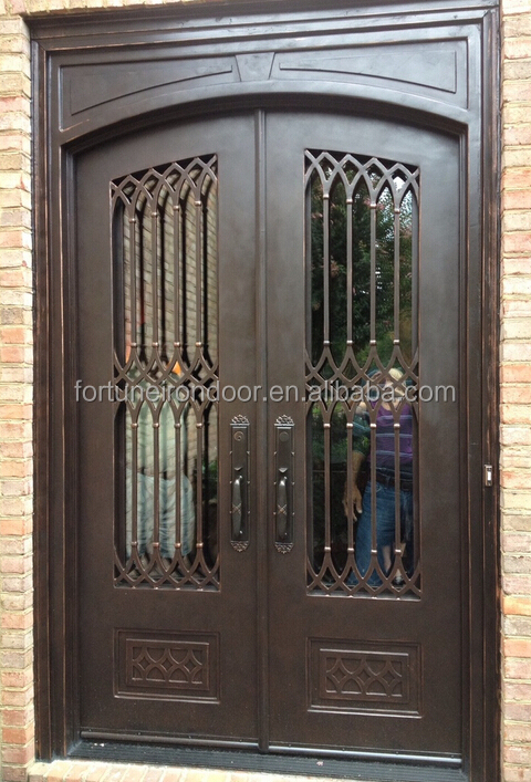 2018 New Rustic Steel Grill Design House Security Doors
