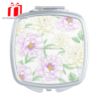 Latest wholesale Fashion foldable bling makeup mirror cute gift mirror