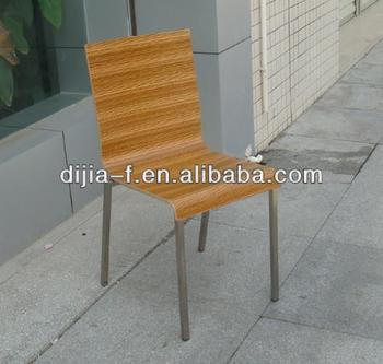 Zebra Veneer Squareness Chrome Legs Leggood Quality Dining Bentwood Chair