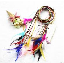 Queena Feather Headdress Hippy Indian Vintage Feather Belt Headband Festival Boho Hairband