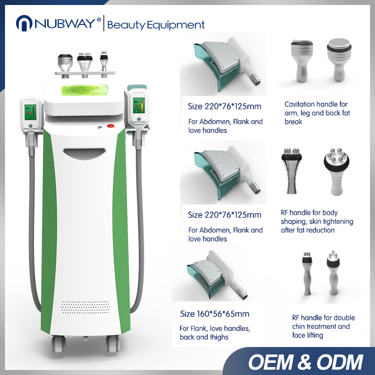 New technology Shock Wave Therapy Vertical Cryolipolysis Fat Freezing Machine with 4 handpieces
