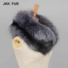 Winter Thick Scarf Women Real Sliver Fox Fur Scarf Hot Sale Warm Luxury Mufflers