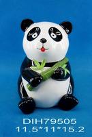 Panda shaped ceramic coin bank