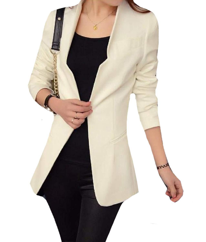 YUNY Women's Regular Fit Above The Knee Open Front Dress Suit