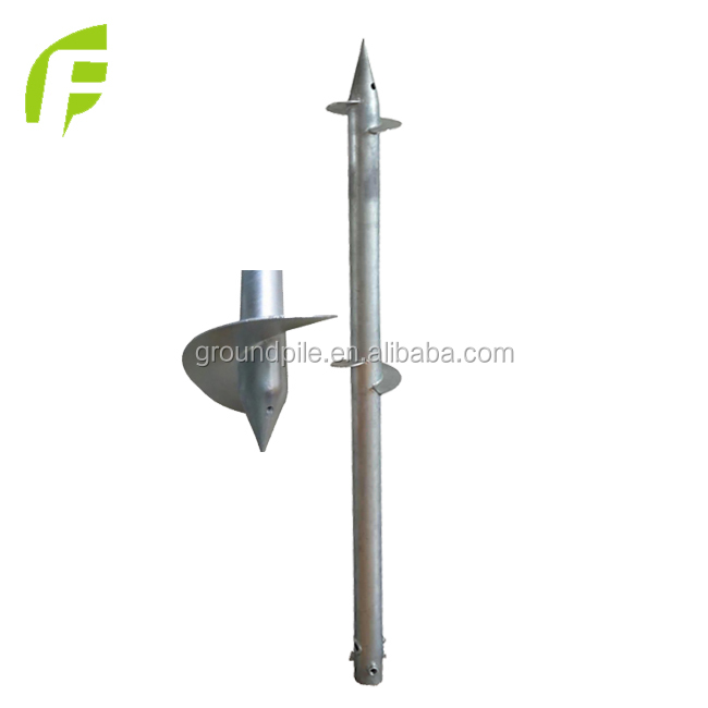 Chinese Credible Supplier Stainless Steel Ground Screw Pile Anchor Rod