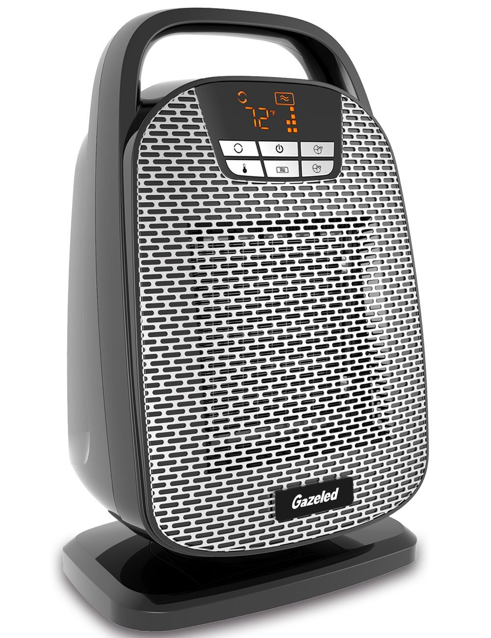 Personal Space Heater, Digital Ceramic Oscillating heater, 1500W/1000W Portable Electric Heater with Adjustable Thermostat & Timer, Tip-Over & Overheating Protection for Small Room, Home, Office