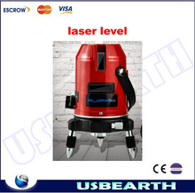 Hot sale 5 lines 1 point Cross line laser leveling equipment, laser level, infrared rotary laser level. Free shipping