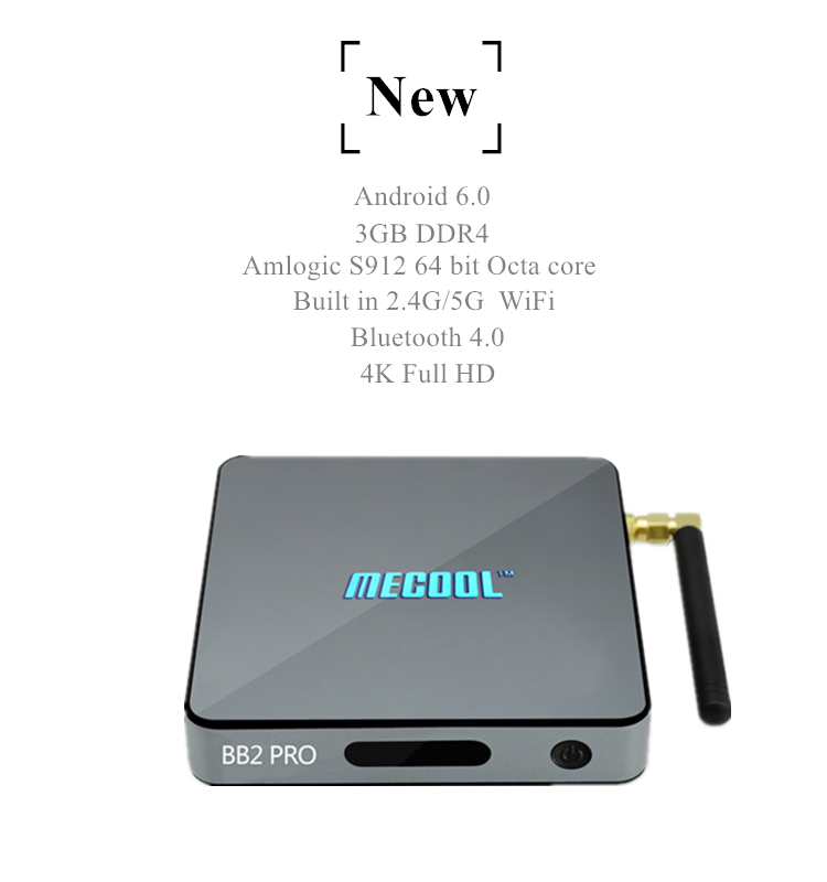 2019 China manufacturer Mecool BB2 Pro S912 3G 16G android 5.1 amlogic s812 With Good Quality KD player 17.0 set top box