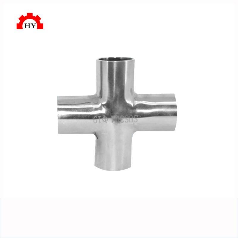 2016 Manufacturing Sanitary Stainless Steel Cross Pipe Fitting