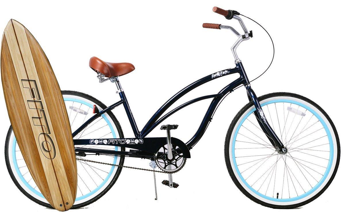 "Anti-Rust & Light Weight Aluminum Alloy Frame, Fito Marina Alloy Shimano Nexus 3-speed for women - Midnight Blue, 26"" wheel Beach Cruiser Bike Bicycle"