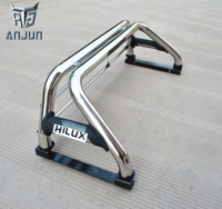 Anjun Auto Spare Parts Car 4x4 Stainless Steel Pick up Sport Roll Bar For HILUX 2016 revo