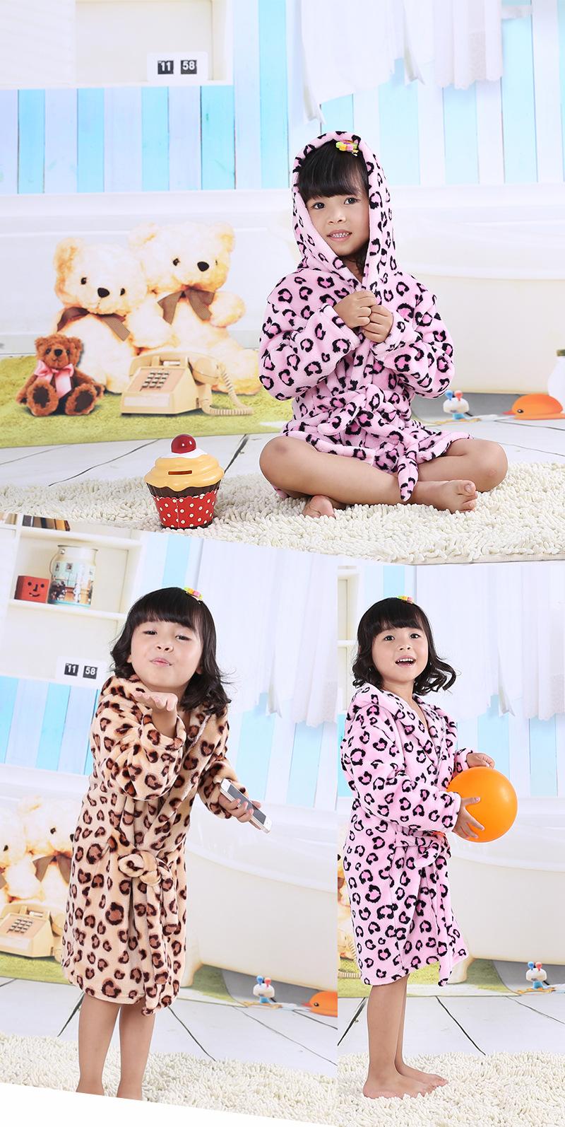 ee3999ded8 2017 Children S Bathrobes For Kids Girls Bathrobe Flannel Fleece ...