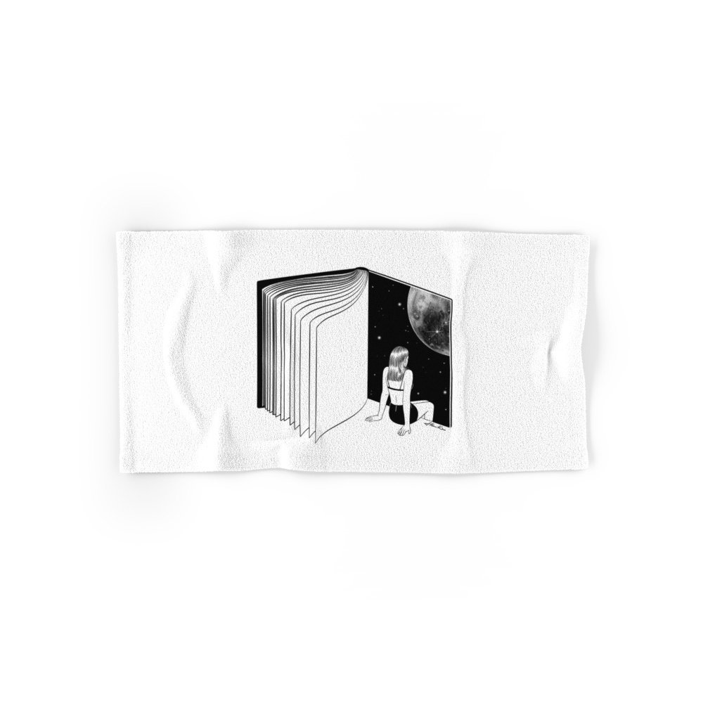 """Society6 Reading Is Dreaming With Your Eyes Open Hand Towel 30""""x15"""""""