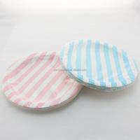 Striped Paper Plates Wedding Birthday Supplies 9