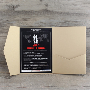 pearl paper fold invitation holder diy wedding invitation card