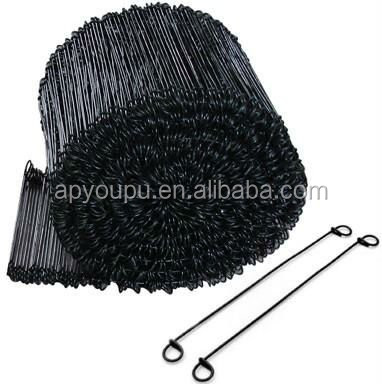 "6"" 8"" 12"" Black Annealed Rebar Double Loop Rebar Wire"