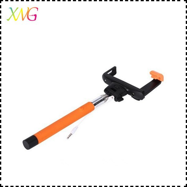 phone accessories selfie stick with button or remote,aluminium monopod selfie stick zoom