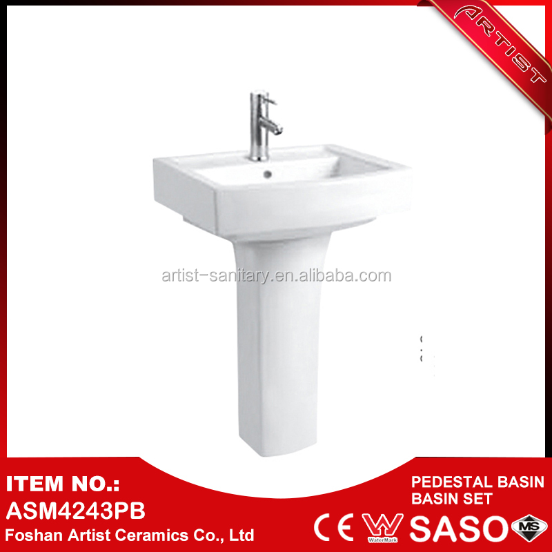 New Products 2016 On Promotion Modern Ceramic Wash Basin Pedestal Prices