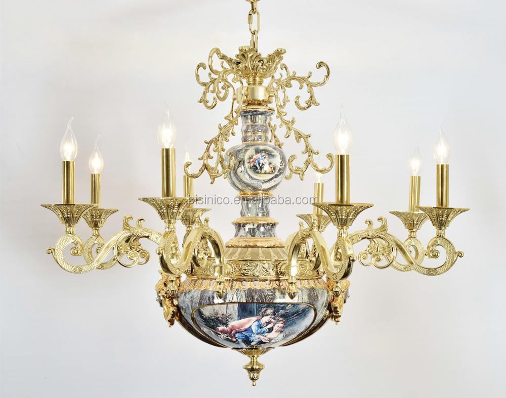 Bisini european porcelain chandelier with gold plated brass arms bisini european porcelain chandelier with gold plated brass arms antique elegant 8 lights ceramic pendant arubaitofo Images