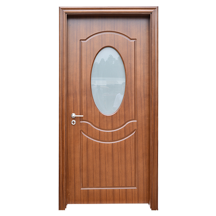 Prettywood Frosted Glass Design Interior Wooden HDF MDF PVC Toilet Bathroom Door Price