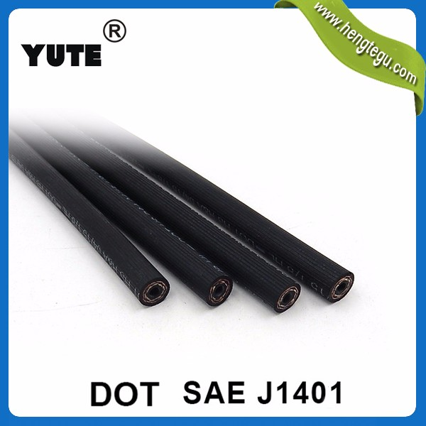 YUTE braided flexible ISO/TS 16949 rubber oil line din 73379 fuel hose