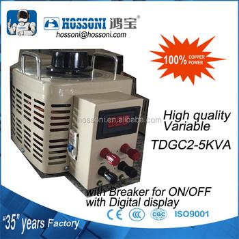 Hossoni Regulator Varic Tdgc 5kva 20a 0 300v With Digital