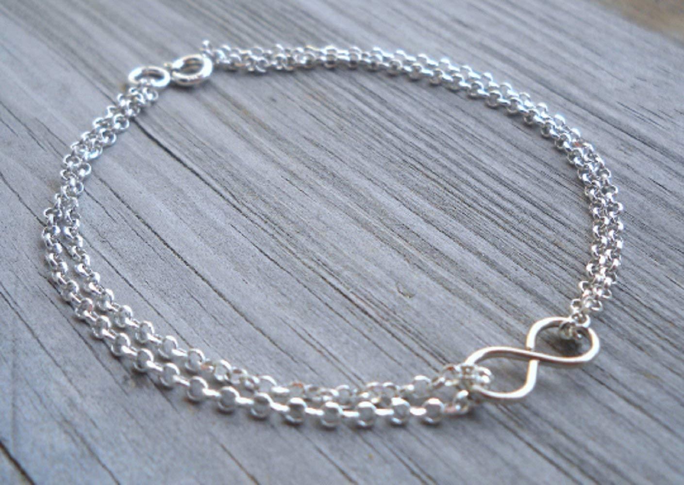925 Sterling Silver Infinity Bracelet-Anklet