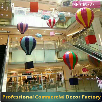 1m 2m 3m Giant Atrium Foldable Hanging Air Balloon Decoration For