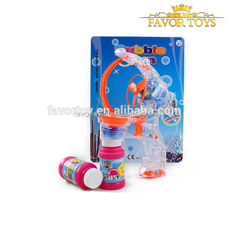 wholesale Transparent bubble gun for large bubble with 2 led lights and music