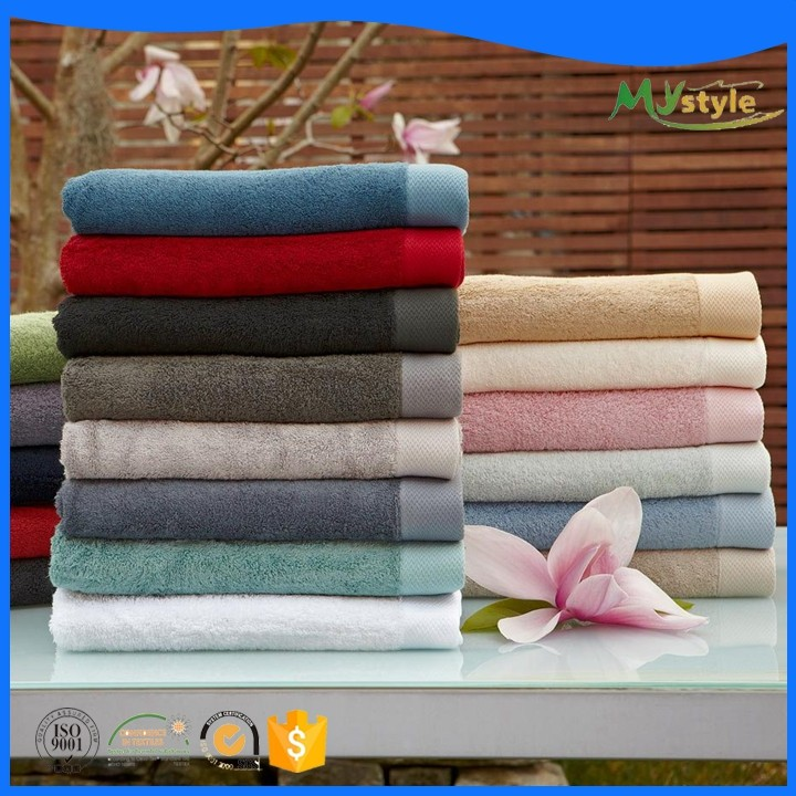 Factory promotional Luxury solid dyed Custom printed pattern Hotel bath hand towel bulk