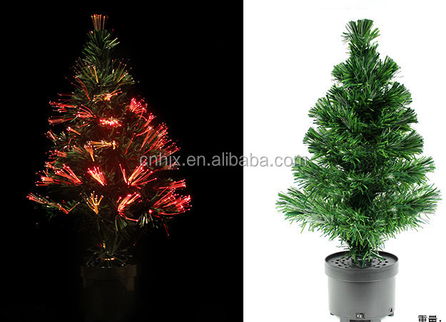 Table Artificial Fiber Optic Christmas Tree With Led Light
