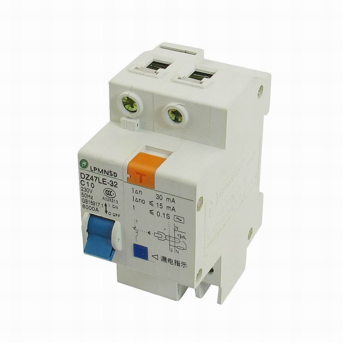 FemiaD DIN Dail 1P Overload Proetction Circuit Breaker 230VAC 10A 6000A
