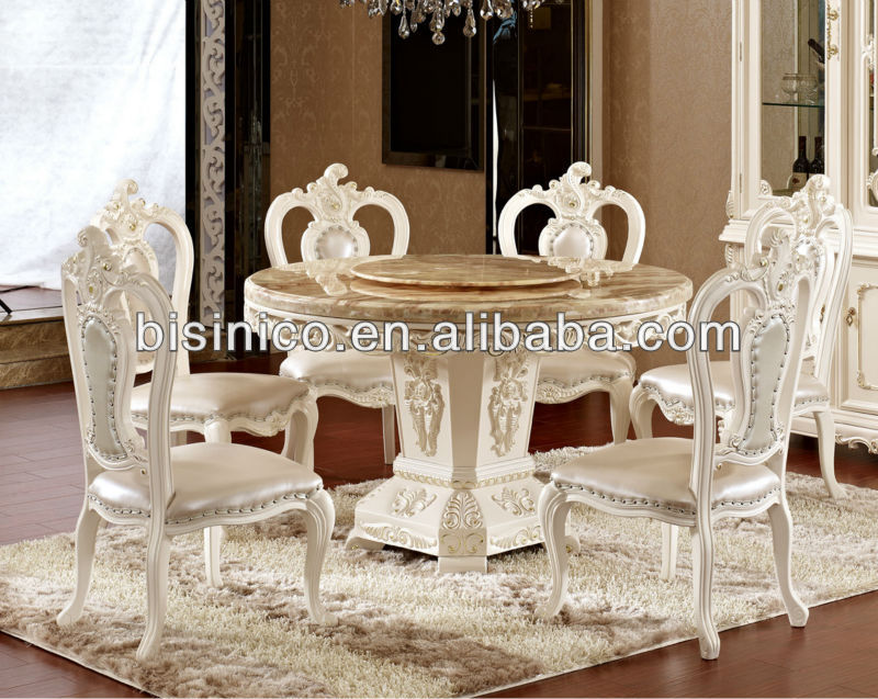 deluxe ronde avec table et chaises de salle manger en. Black Bedroom Furniture Sets. Home Design Ideas
